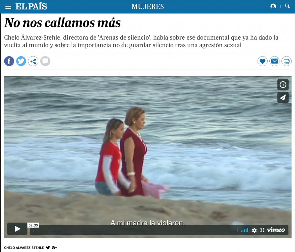 """""""No nos callamos más"""" Sands of Silence en El País"""