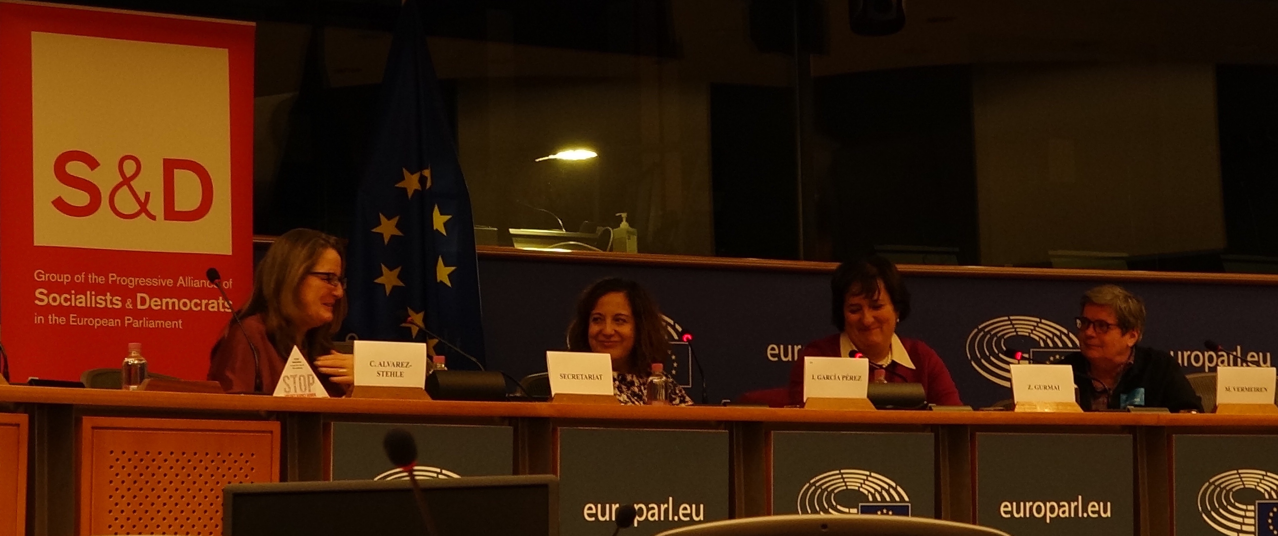 Chelo on panel European Parliament