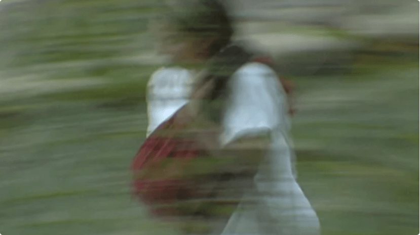 Sands of Silence film image of a woman fleeing