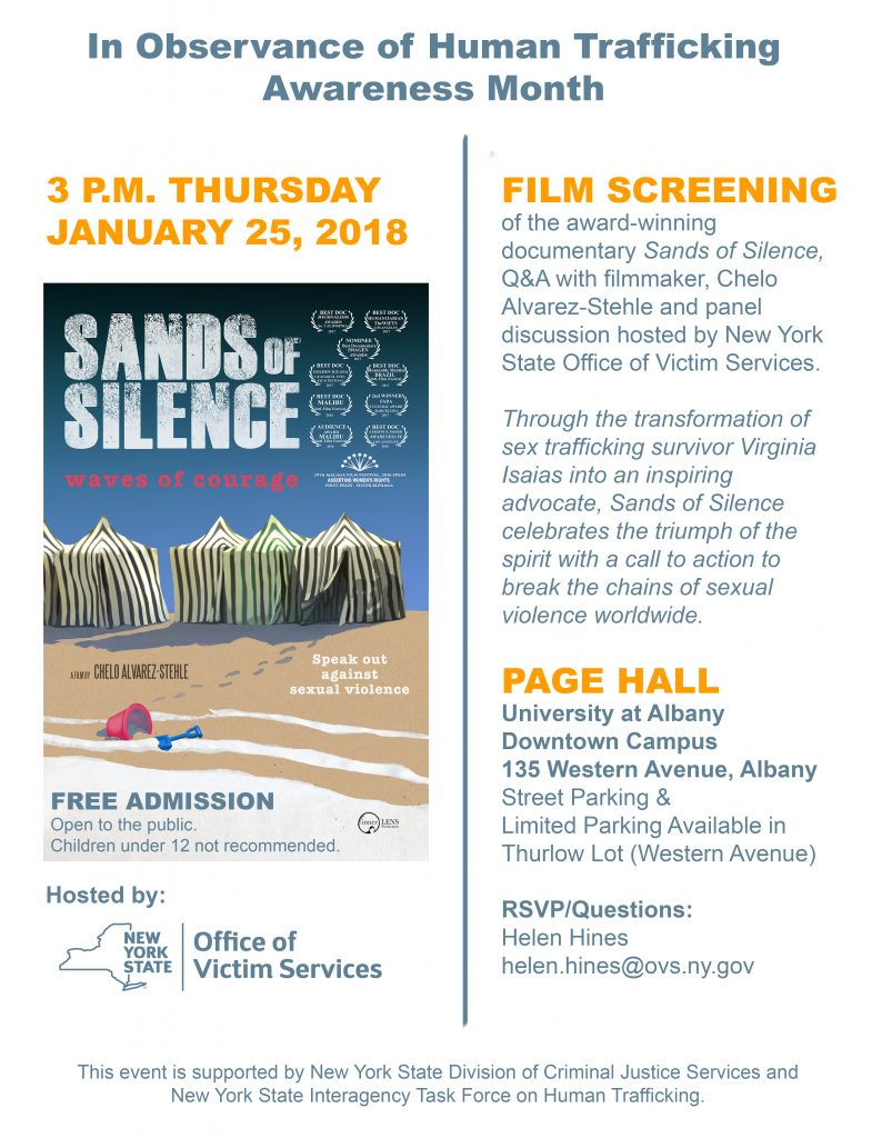 OVS HT Sands of Silence Film Screening Flyer