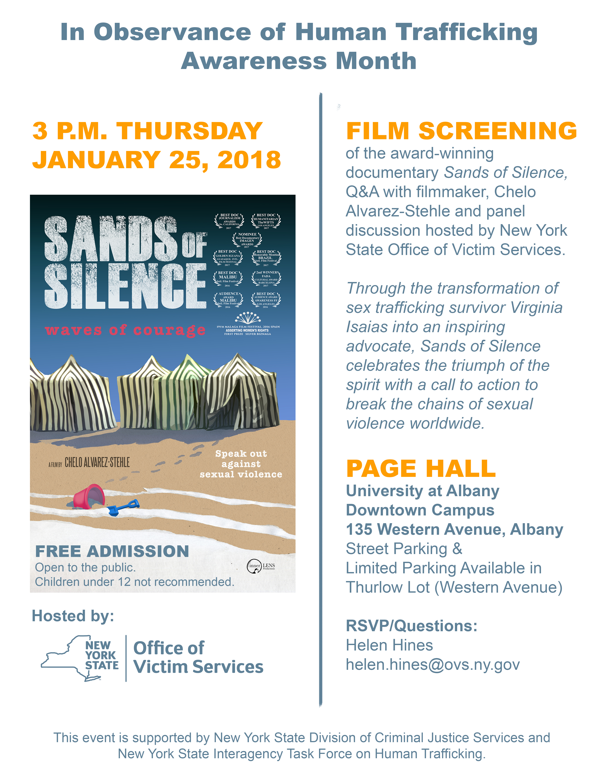 OVS HT Sands of Silence Film Screening Flyer